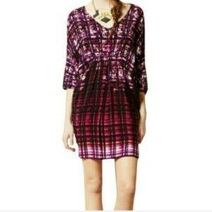 Maeve | Anthropologie dolman dress purple white